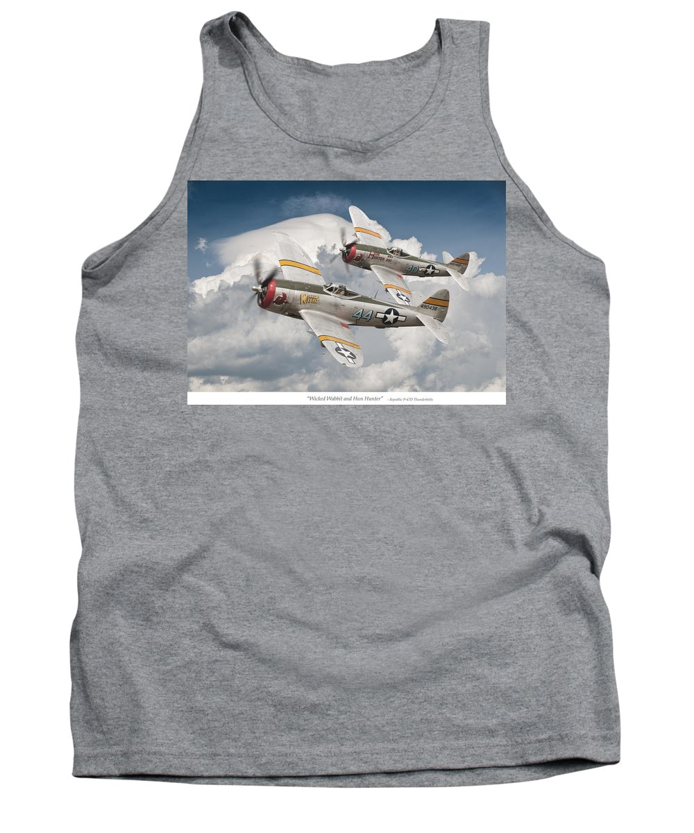 Thunderbolt Tank Top featuring the photograph Wicked Wabbit And Hun Hunter by Jeff Stephenson