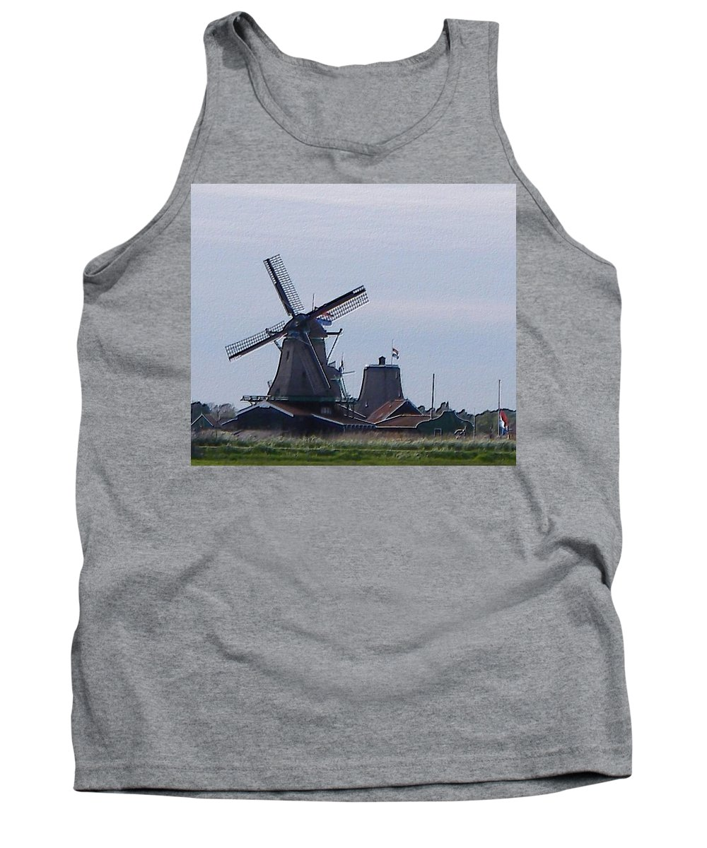 Windmill Tank Top featuring the photograph Windmill by Manuela Constantin
