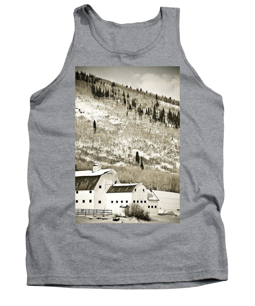 Winter Tank Top featuring the photograph Winter Barn 5 by Marilyn Hunt
