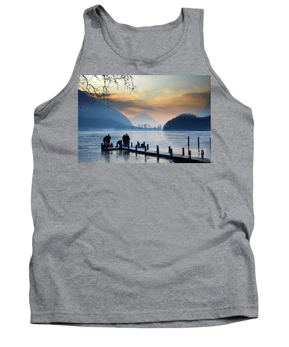 Frost Tank Top featuring the photograph Winter Lake by Mats Silvan