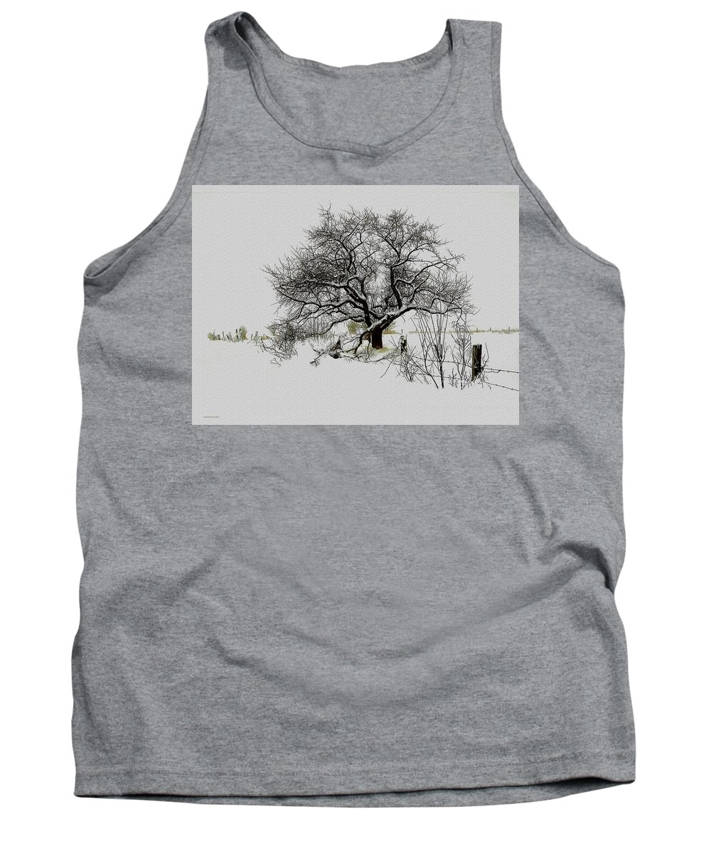 Landscape Tank Top featuring the photograph Winter Sentinel by Ron Jones