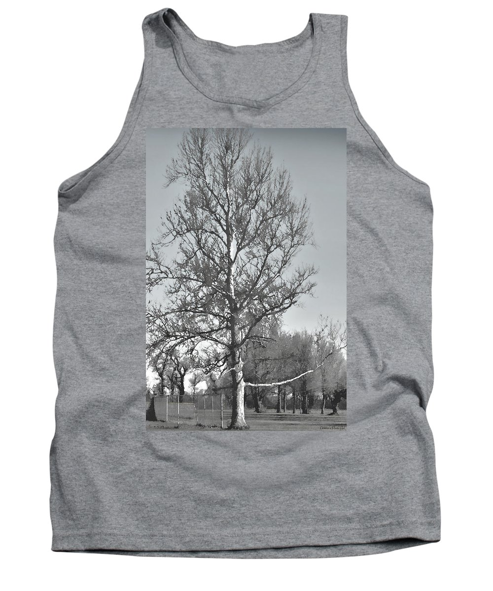 Nature Tank Top featuring the photograph Winter Sycamore by Debbie Portwood