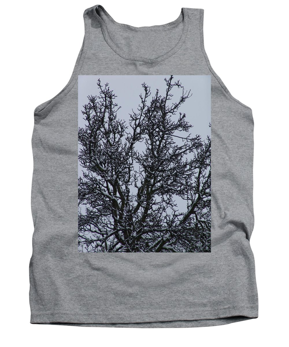 Snow Tank Top featuring the photograph Winter Tree by Ashok Patel