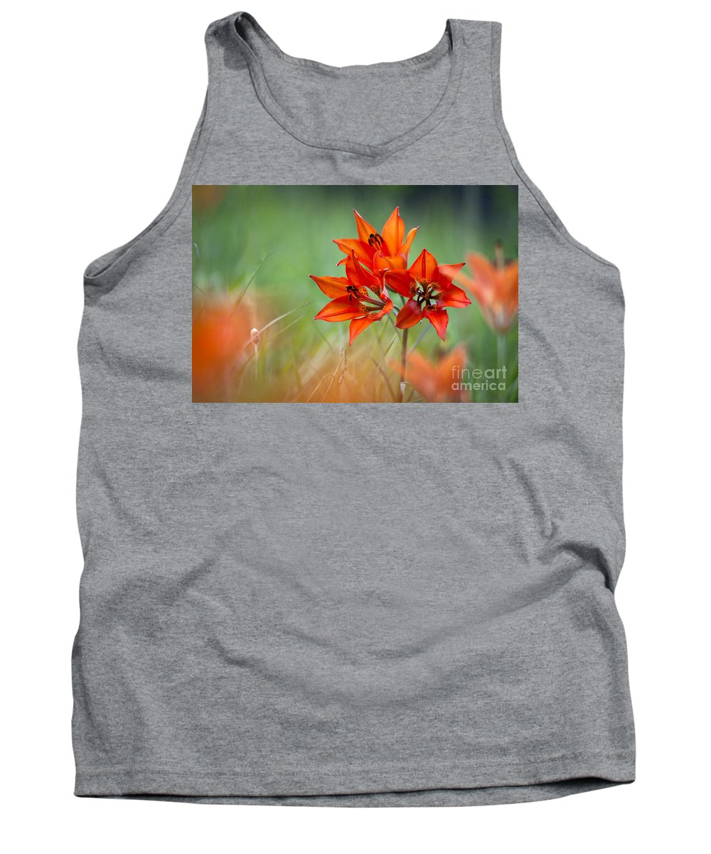 Flower Tank Top featuring the photograph Wood Lily by Hal Horwitz and Photo Researchers