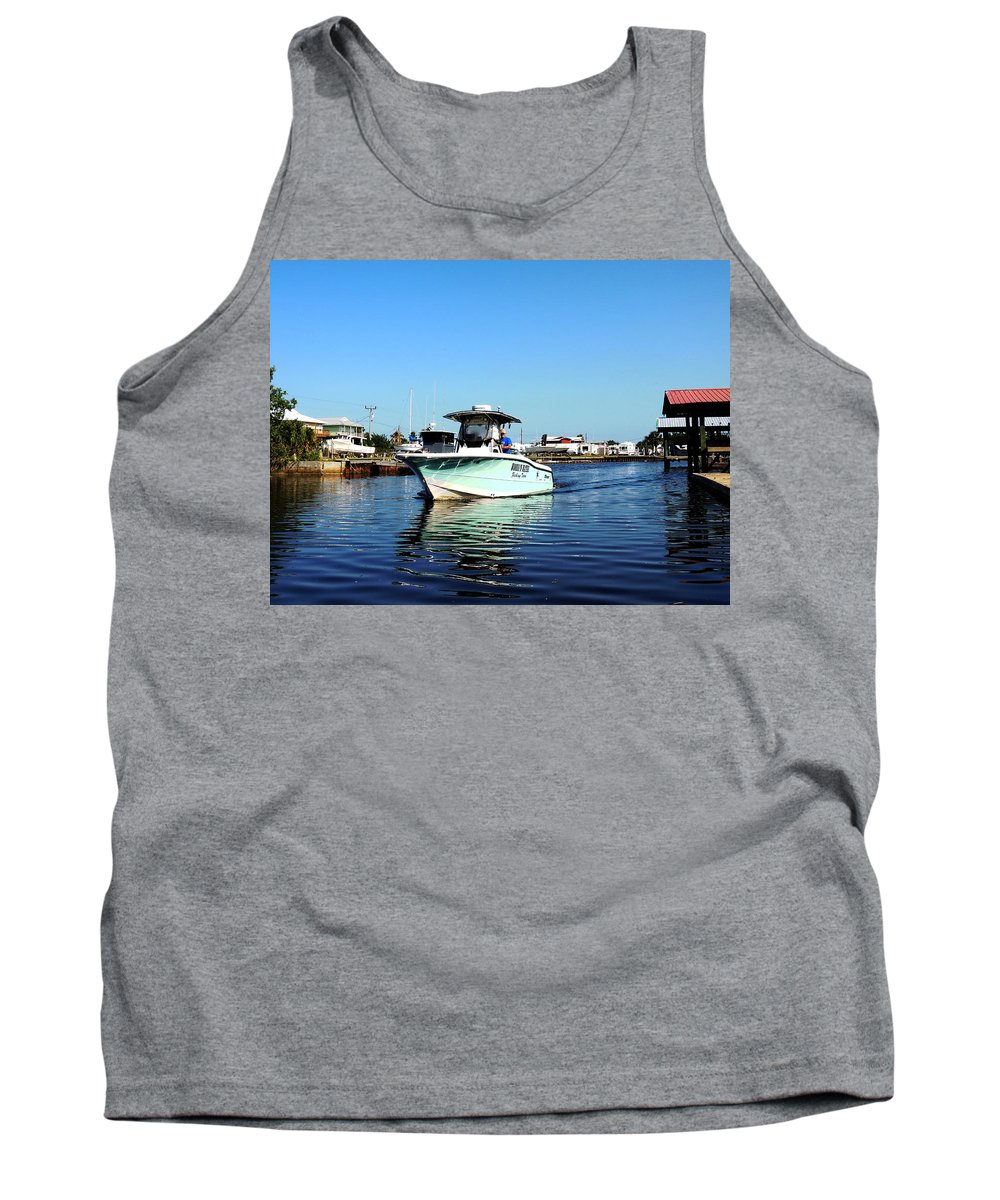 Fishing Tank Top featuring the photograph Woods N Water Fishing Team by Marilyn Holkham