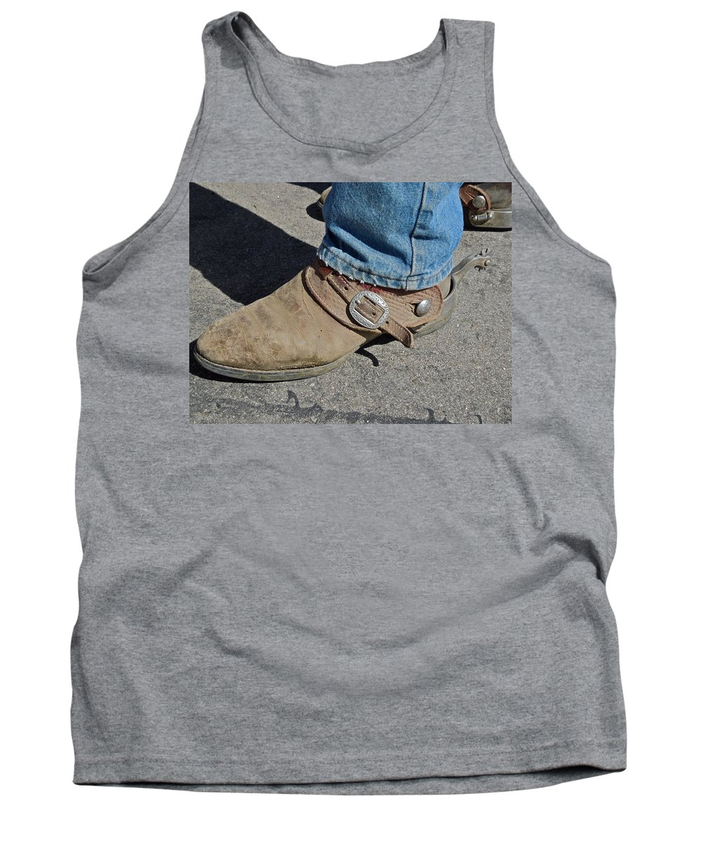 Boots Tank Top featuring the photograph Work Boots by Diana Hatcher