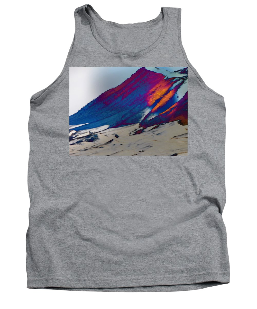 Abstract Tank Top featuring the photograph Wyoming Mountains 4 by Lenore Senior