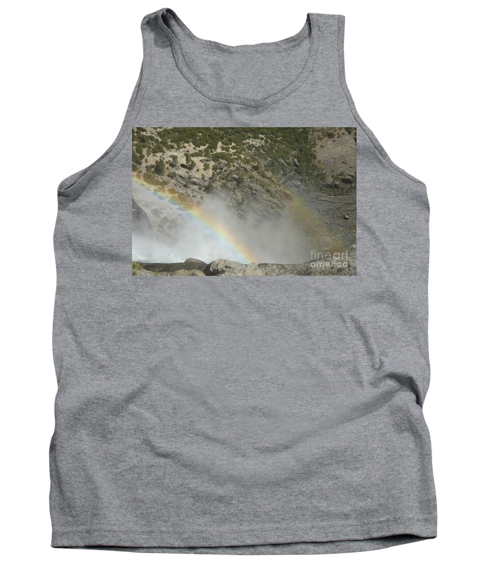 Yosemite National Park Tank Top featuring the photograph Yosemite Falls Rainbow by Cassie Marie Photography