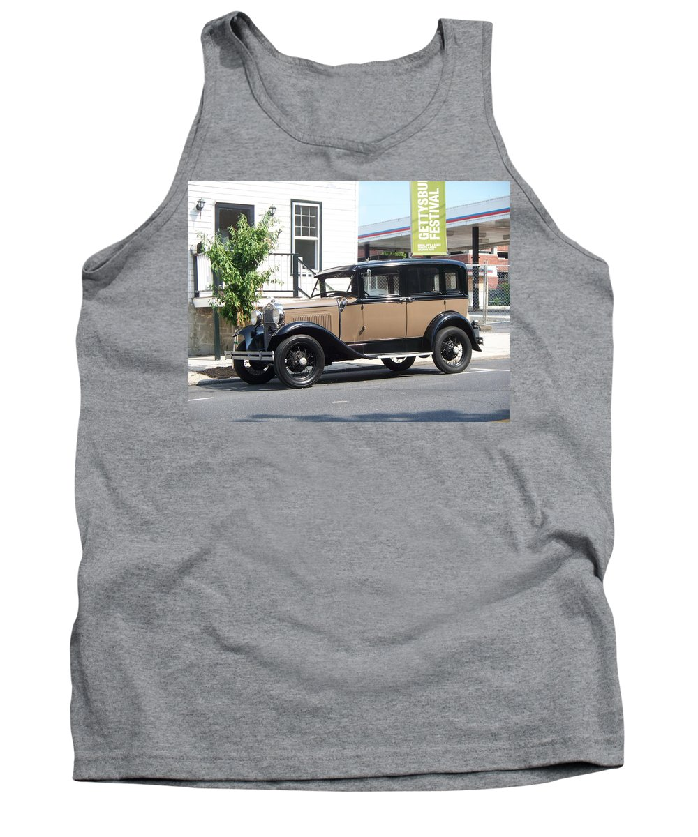 Transportation Tank Top featuring the painting Antique Car by Eric Schiabor