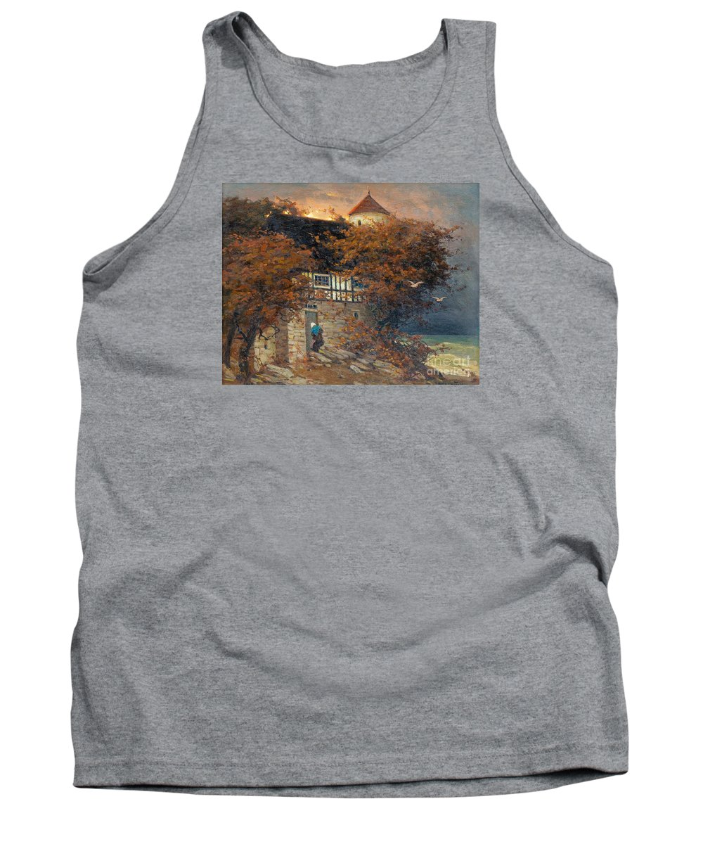 Viktor Ivanovich Zarubin Tank Top featuring the painting At Dusk by Celestial Images