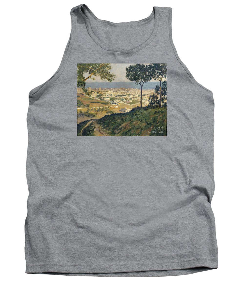 Dar�o De Regoyos Tank Top featuring the painting Barcelona Seen From Vallvidrera by Celestial Images