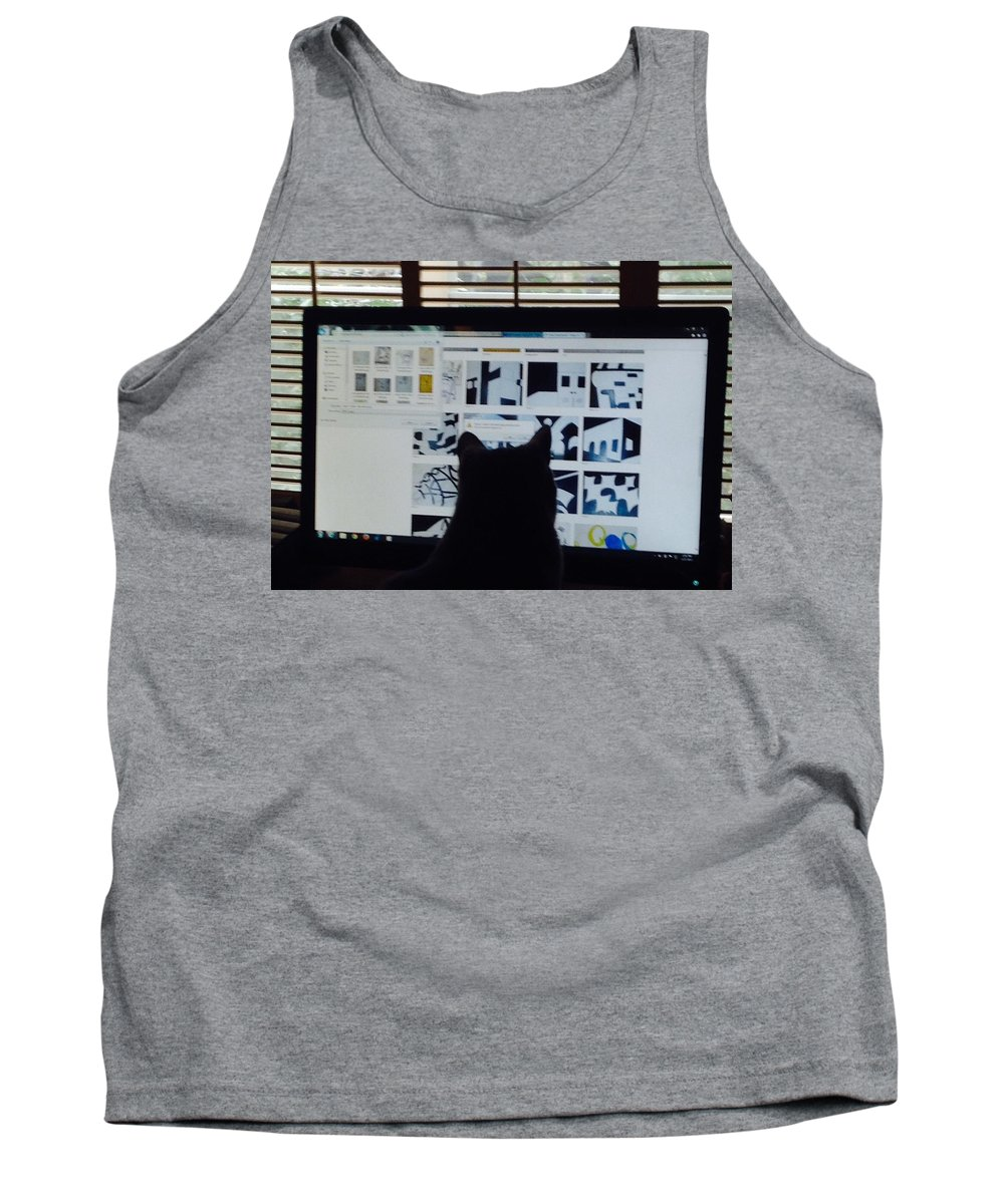 Destiny Tank Top featuring the photograph Critic Cat by Erika Chamberlin