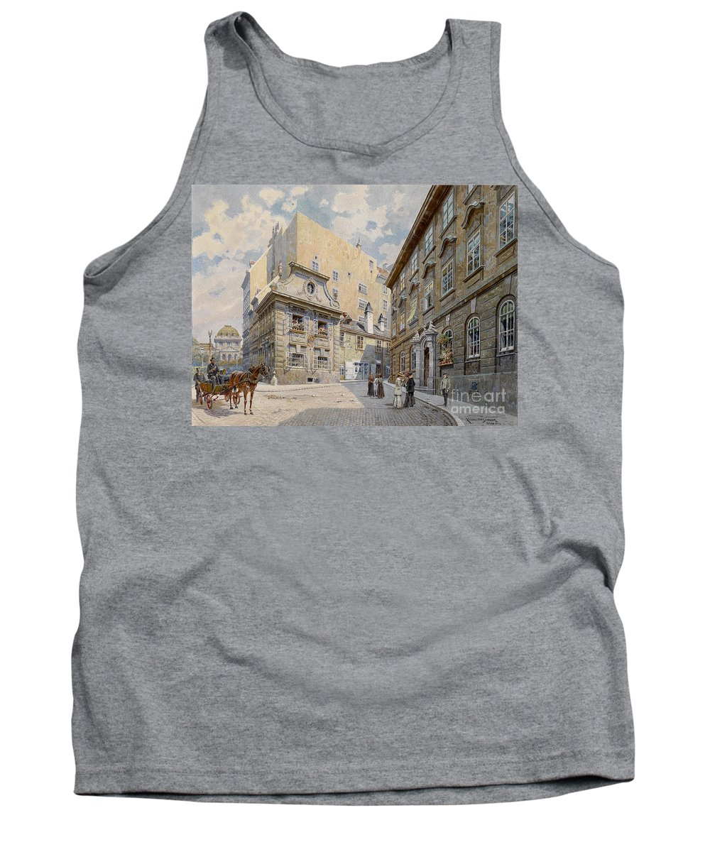 Sandor Kozeluh Tank Top featuring the painting The Molkerbastei by Celestial Images