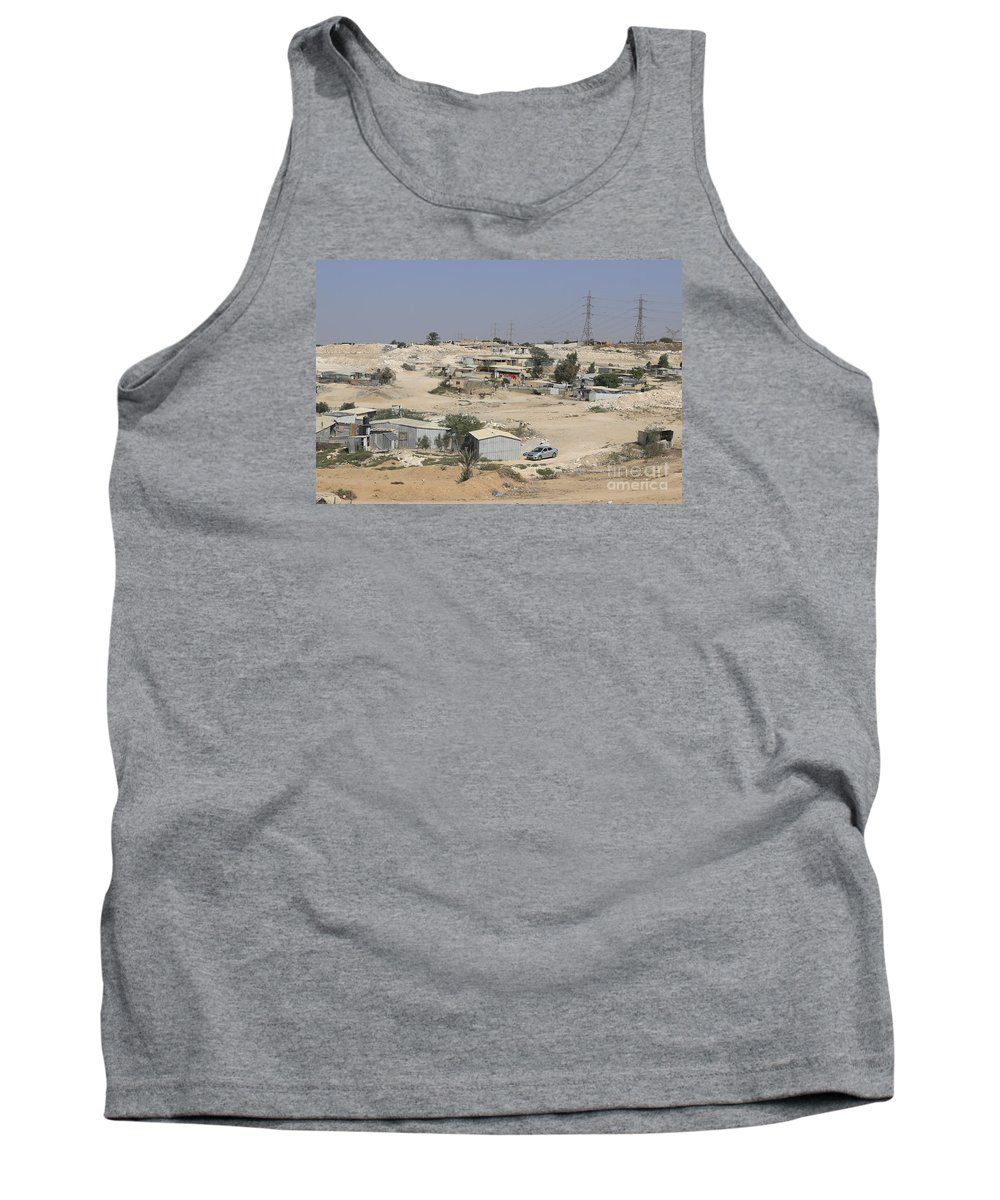 Israel Tank Top featuring the photograph Unrecognized, Beduin Shanty Township by Lilach Weiss