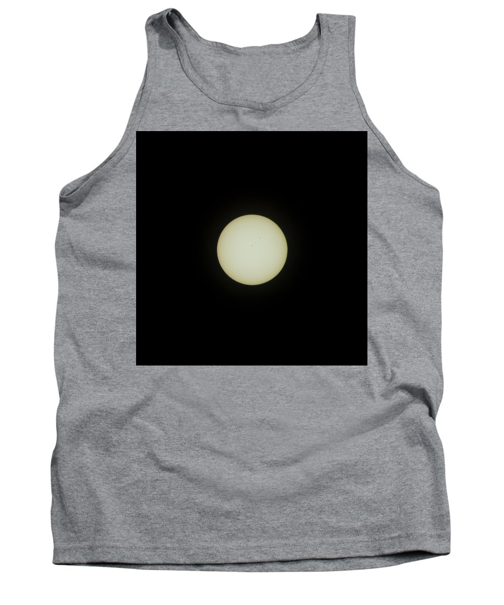 Eclipse Tank Top featuring the photograph #01 August 2017 Solar Eclipse by John Diebolt