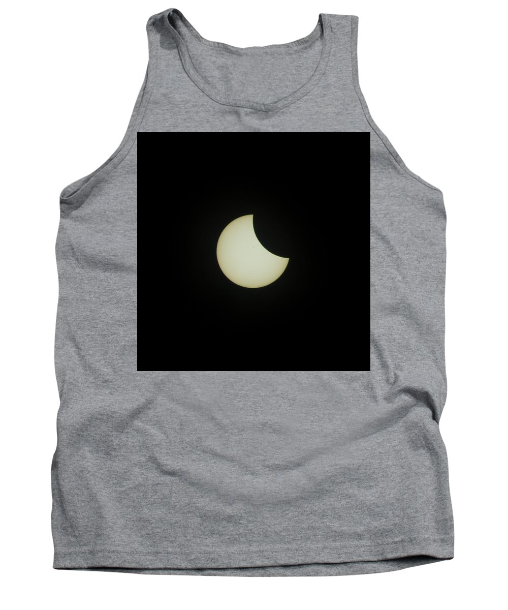 Eclipse Tank Top featuring the photograph #05 August 2017 Solar Eclipse by John Diebolt