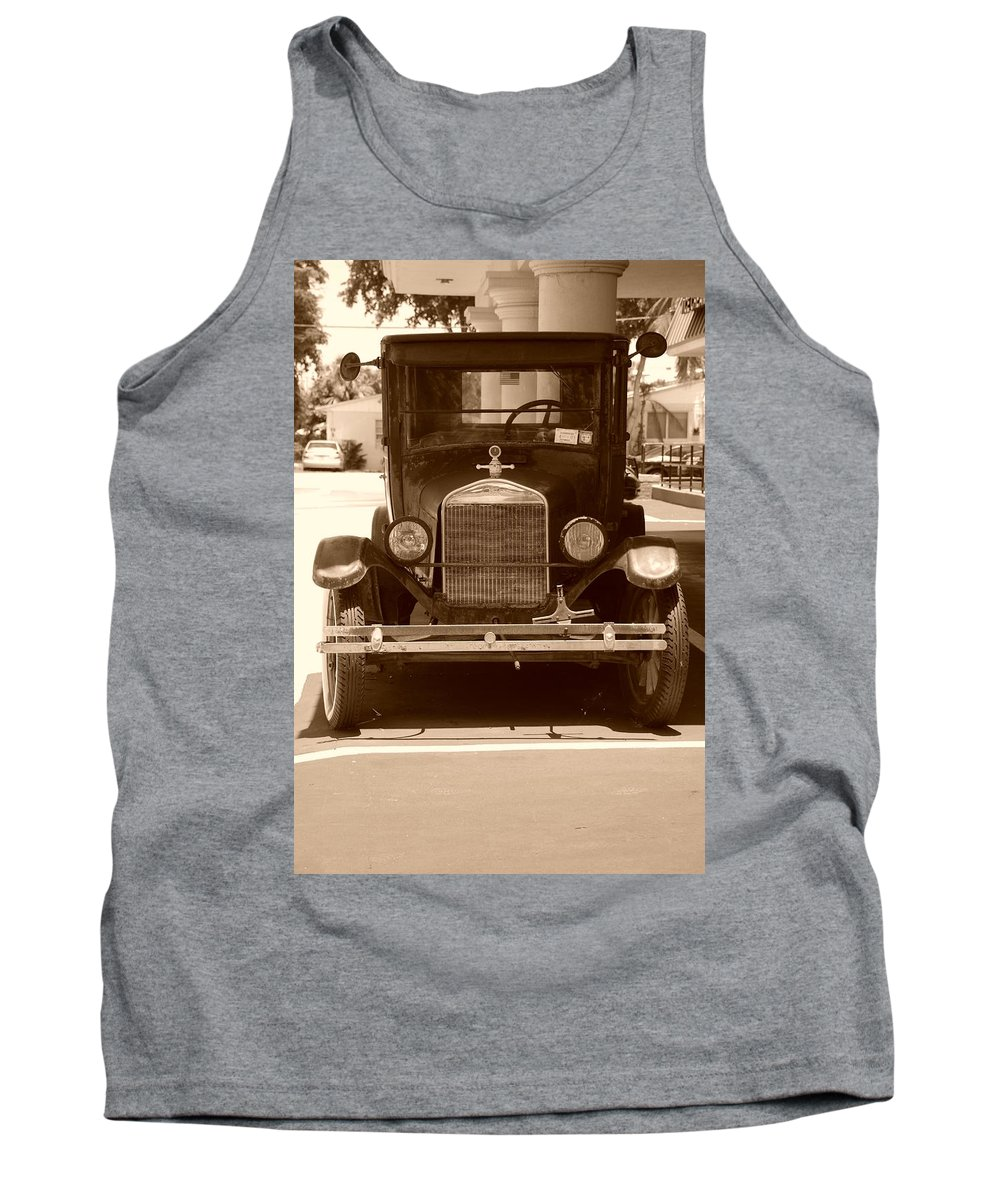 Sepia Tank Top featuring the photograph 1926 Model T by Rob Hans
