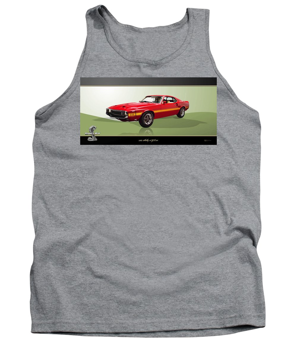 Wheels Of Fortune By Serge Averbukh Tank Top featuring the photograph 1969 Shelby V8 Gt350 by Serge Averbukh