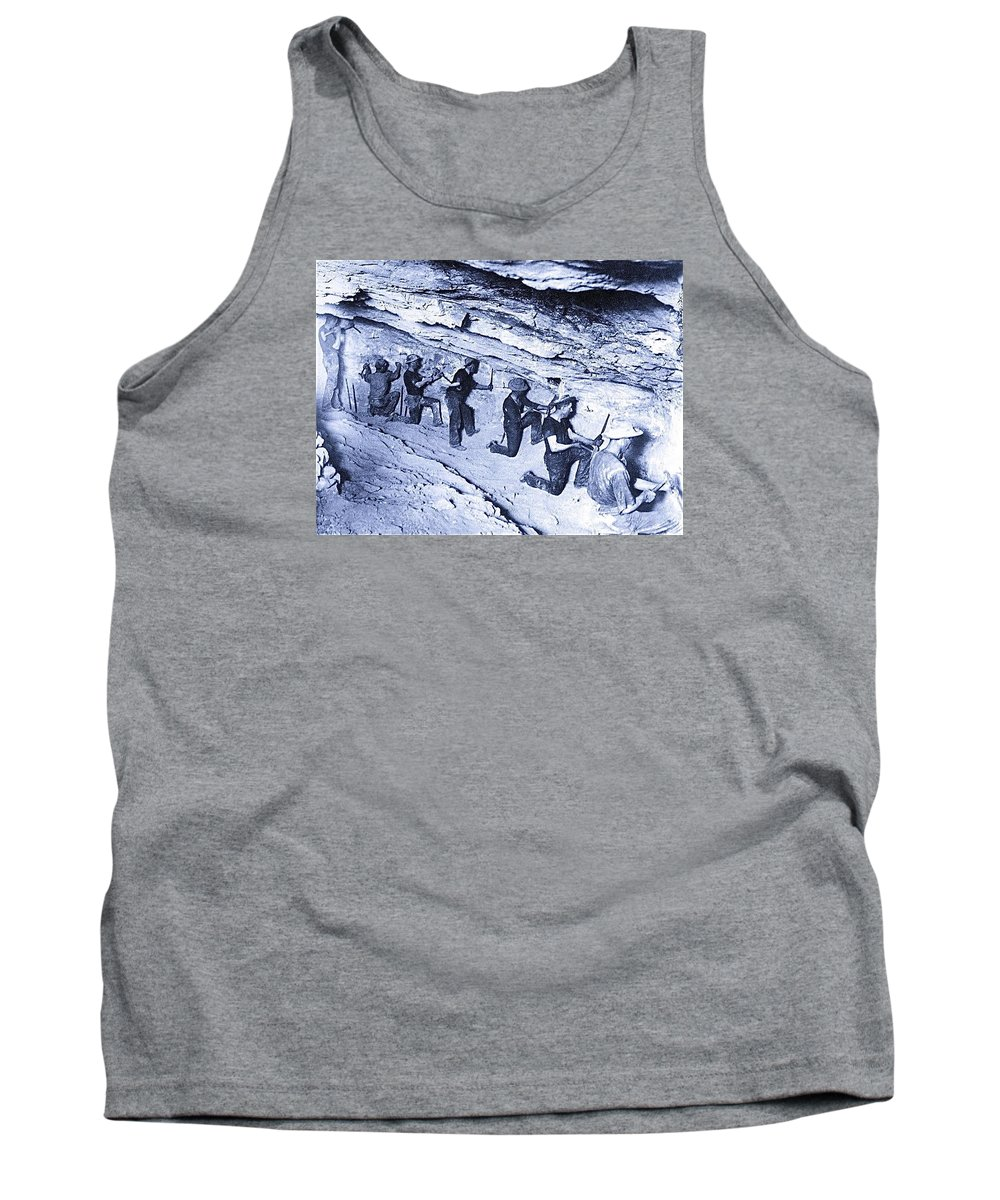 500-feet Level Sulphate Stope Tombstone Consolidated Mine 1904-2013 Tank Top featuring the photograph 500-feet Level Sulphate Stope Tombstone Consolidated Mine 1904-2013 by David Lee Guss