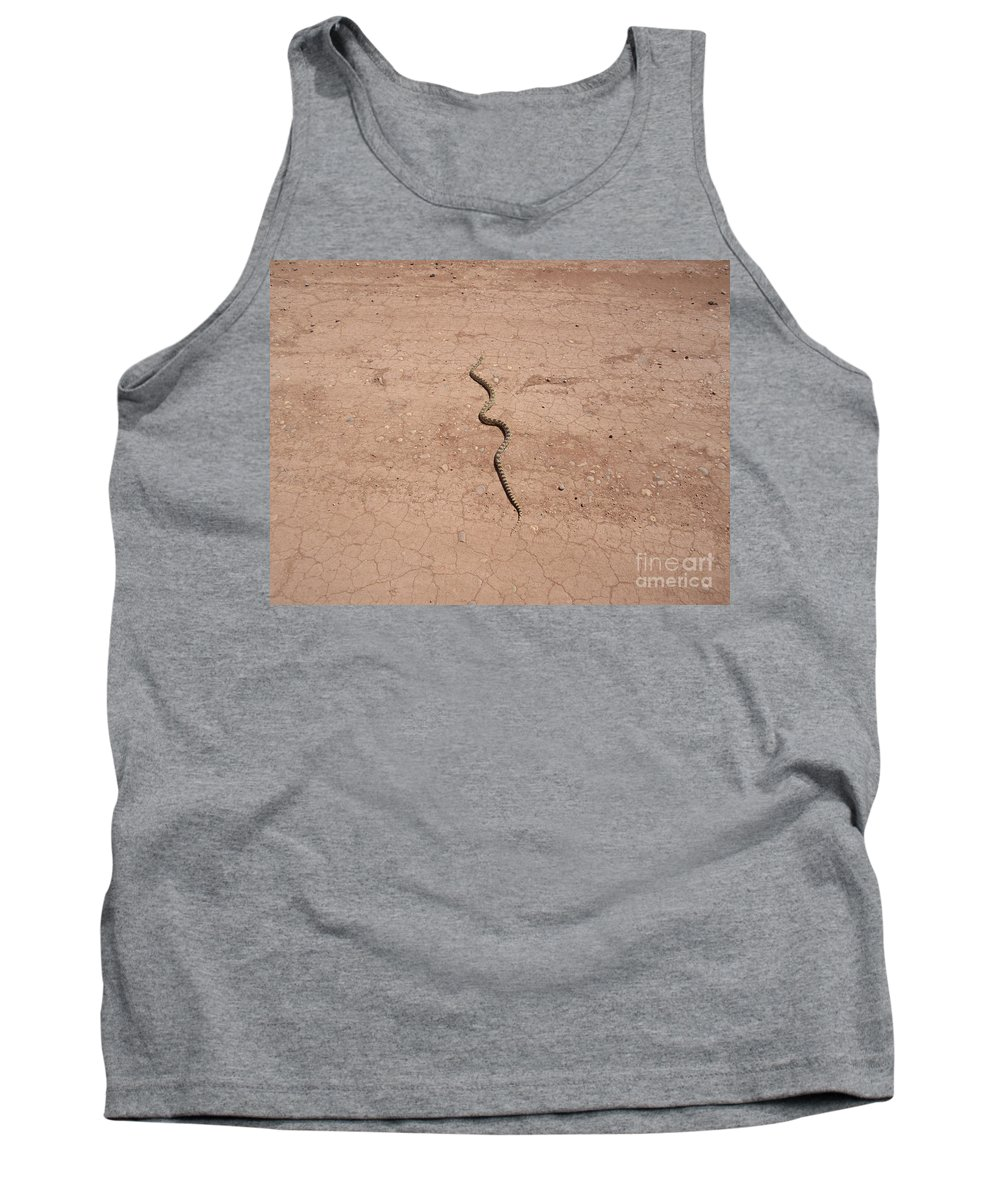 A Tank Top featuring the photograph A Snake On The Dirt by Frederick Holiday