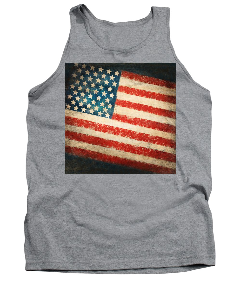 4th Tank Top featuring the painting America Flag by Setsiri Silapasuwanchai