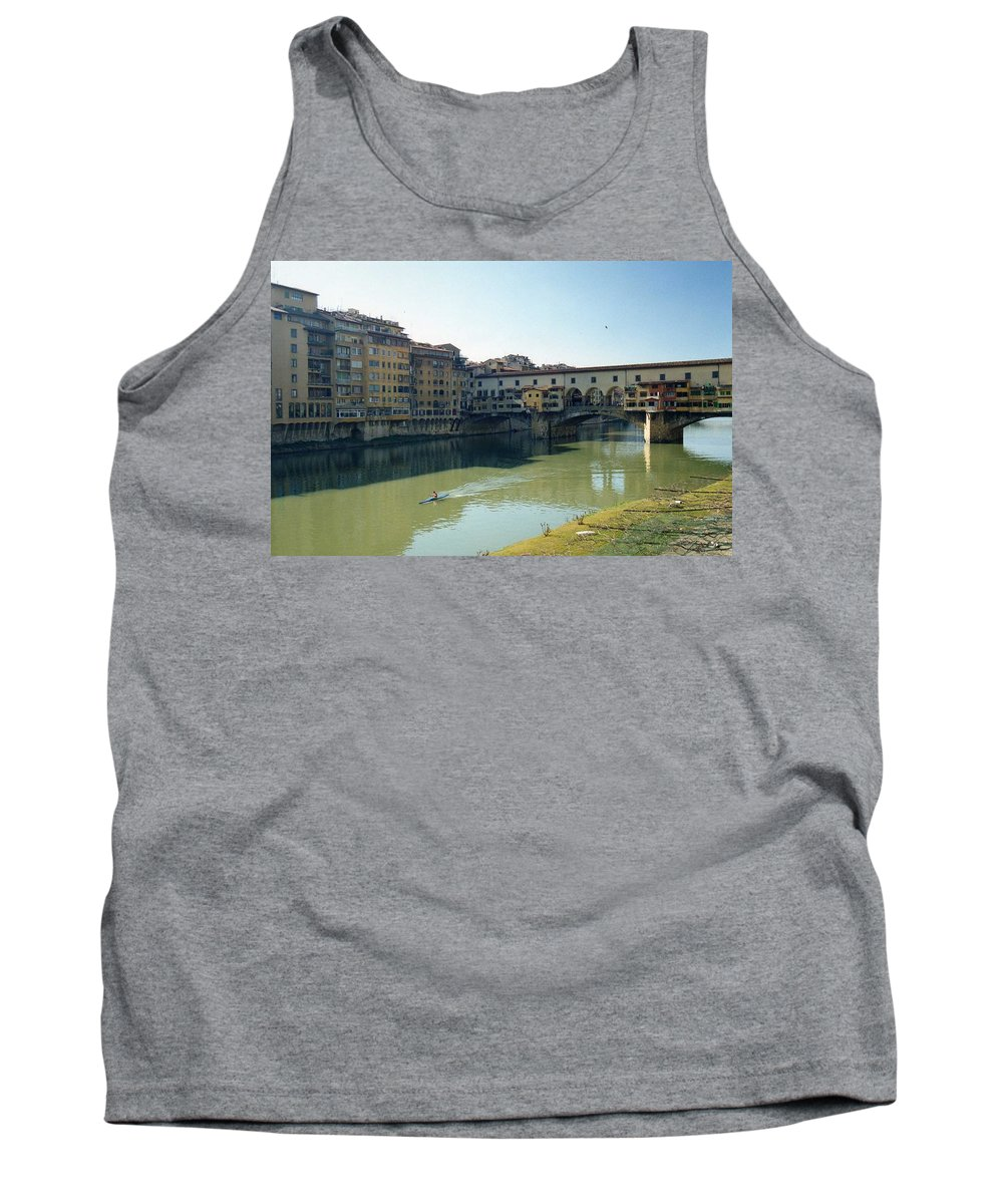 Arno Tank Top featuring the photograph Arno River In Florence Italy by Marna Edwards Flavell