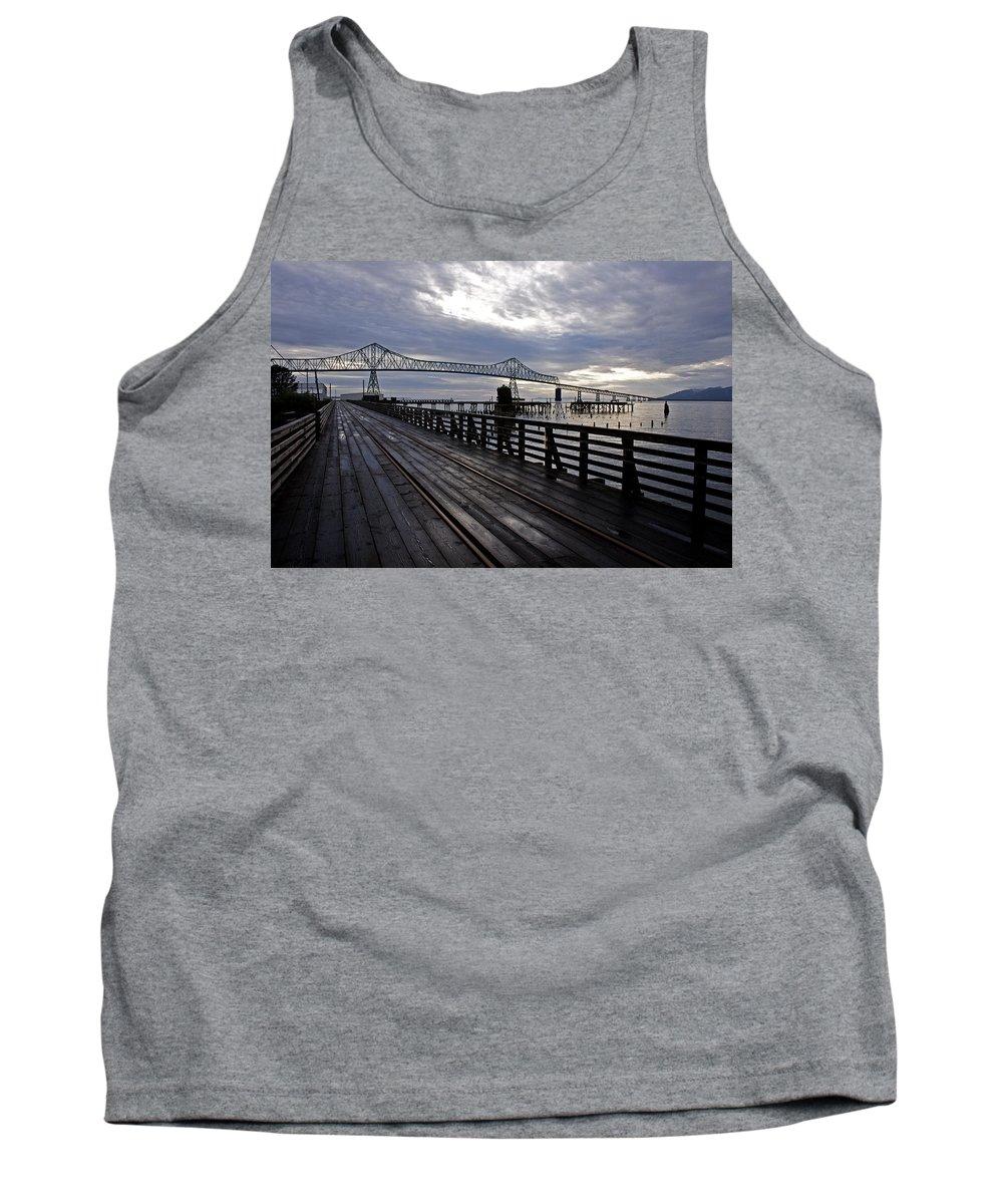 Landscape Tank Top featuring the photograph Astoria-megler Bridge 4 by Lee Santa