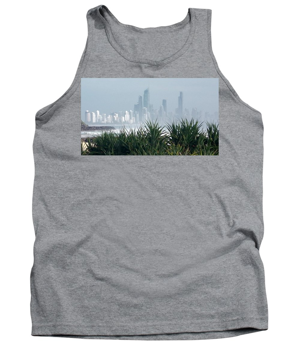 Australia Tank Top featuring the photograph Australia - Surf Mist Shrouds Our View by Jeffrey Shaw