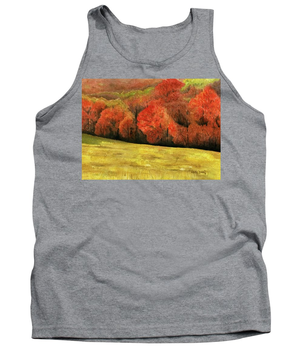 Autumn Tank Top featuring the painting Autumn Splendor by Mary Tuomi