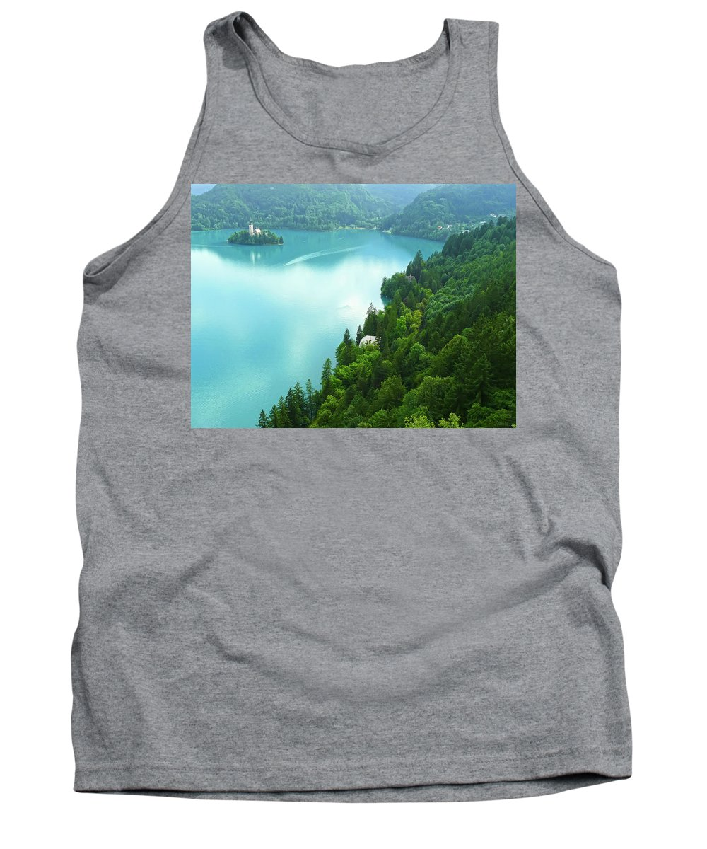 Island Tank Top featuring the photograph Bled by Daniel Csoka