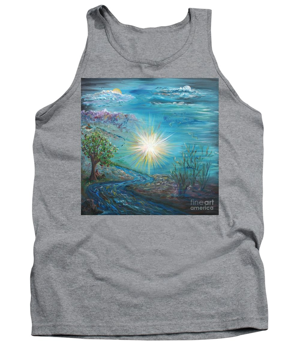 Creation Tank Top featuring the painting Creation by Nadine Rippelmeyer