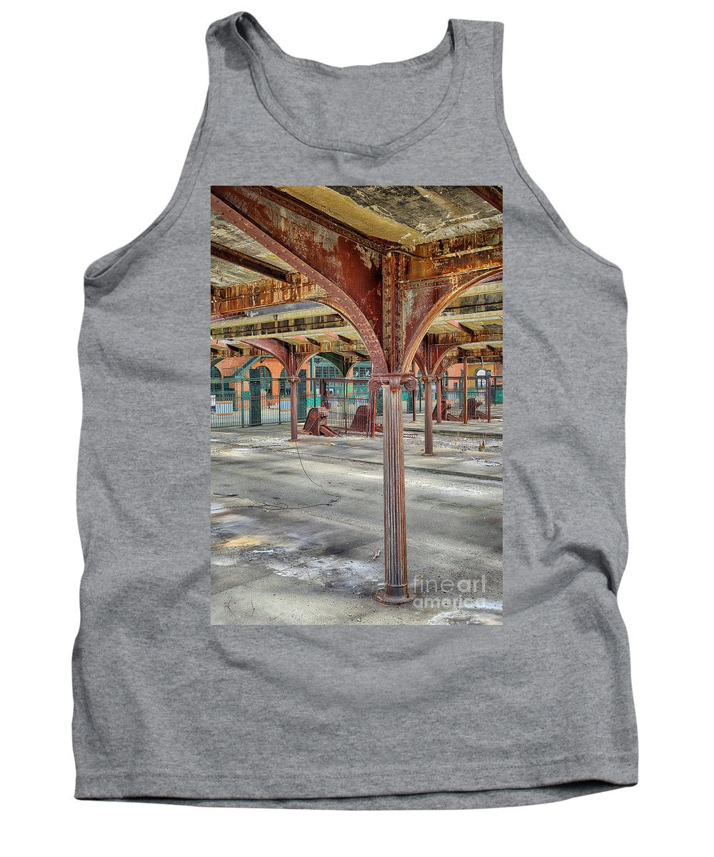 Jersey Tank Top featuring the photograph Crrnj Bush Train Shed by Paul Fell