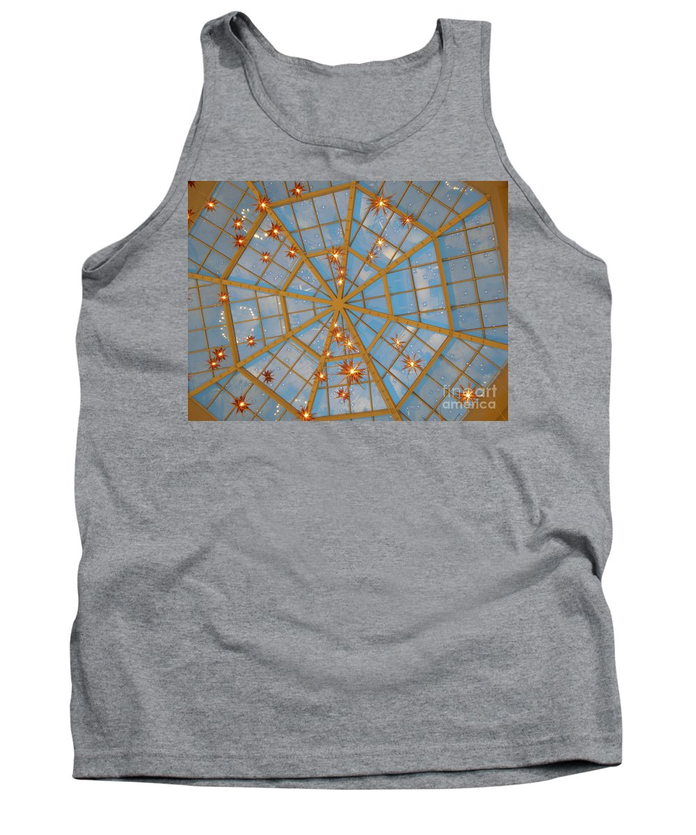 Glass Tank Top featuring the photograph Crystal Web by Maria Bonnier-Perez