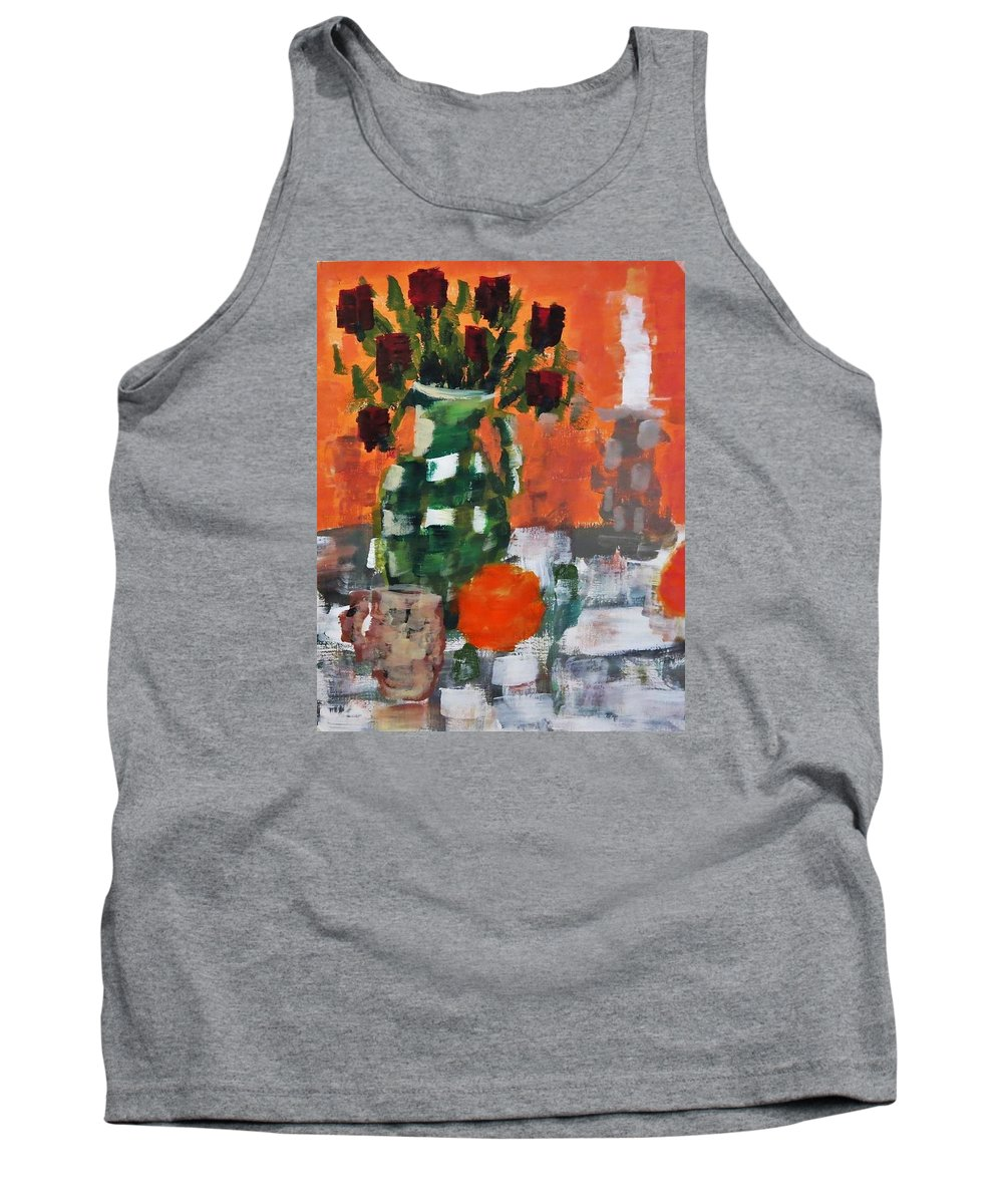 Roses Tank Top featuring the painting Dead Roses by Tamara Savchenko