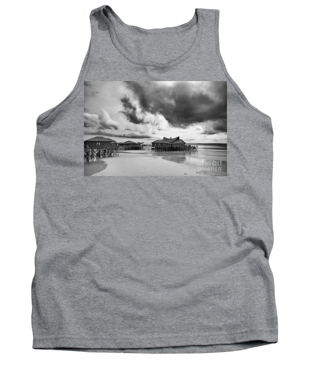 Beach Tank Top featuring the photograph Derawan Island by Charuhas Images