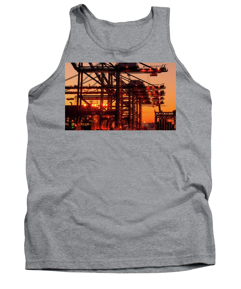 Construction Tank Top featuring the photograph Docks by Svetlana Sewell