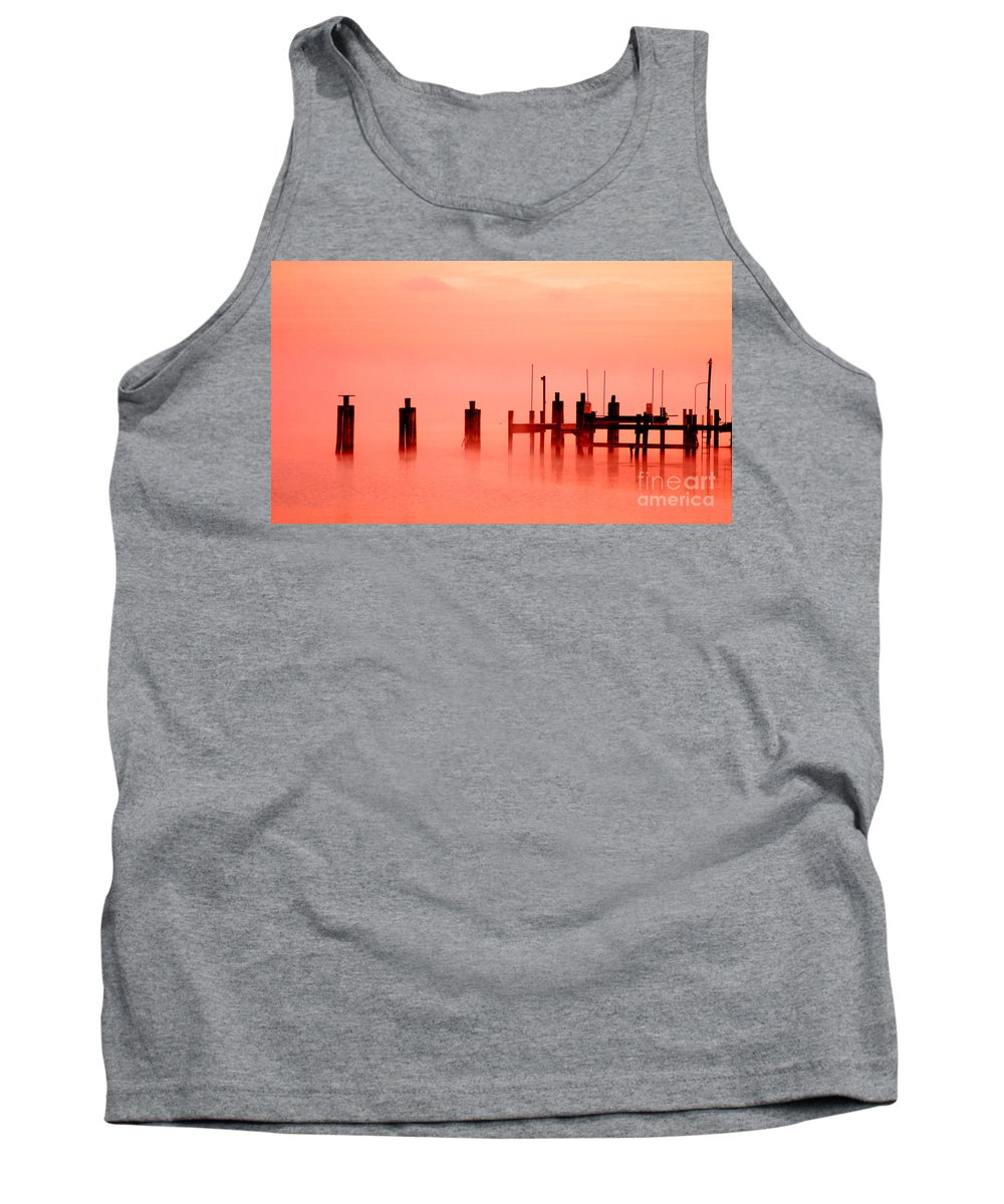Clay Tank Top featuring the photograph Eery Morn' by Clayton Bruster