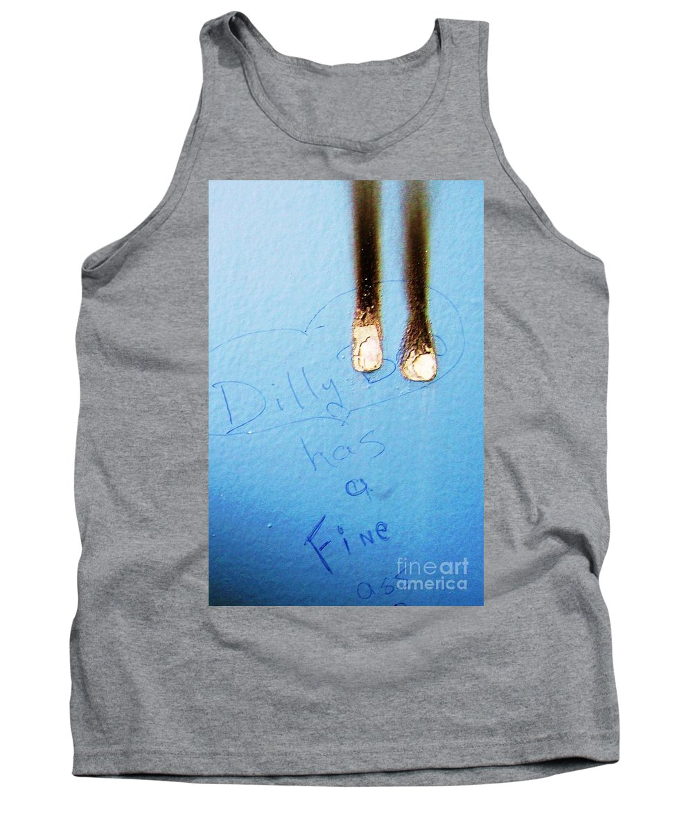 Photograph Fine Ass Blue Tank Top featuring the photograph Fine Ass by Seon-Jeong Kim