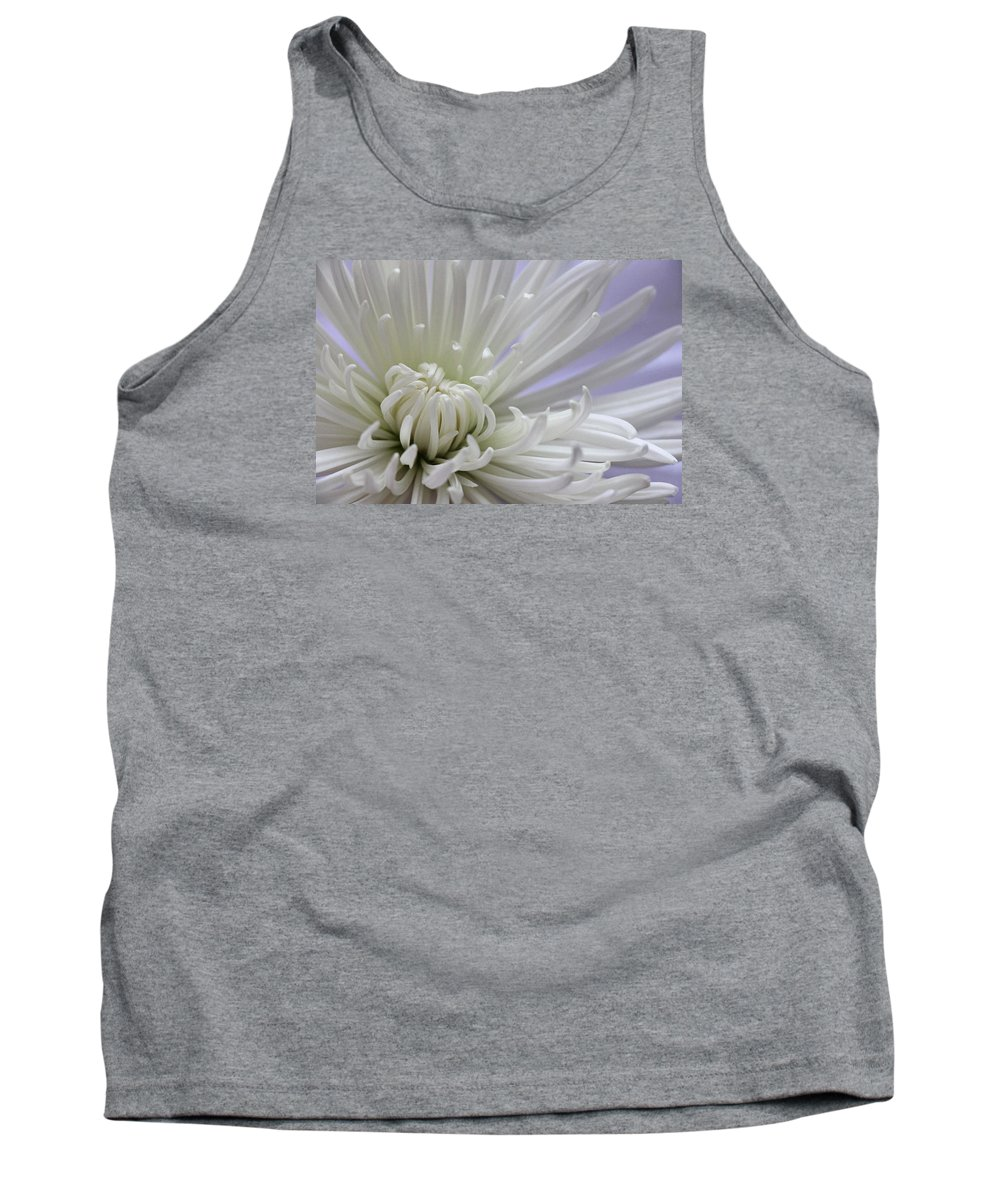 Chrysanthemum Tank Top featuring the photograph Fragile Beauty by Iryna Goodall