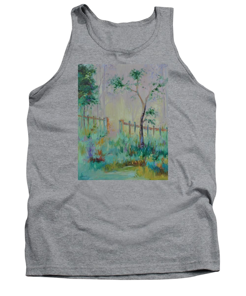 Garden Tank Top featuring the painting Garden And Beyond by Ginger Concepcion