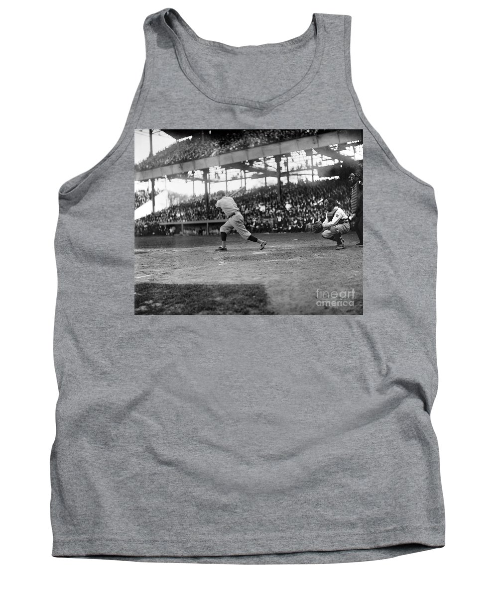 1921 Tank Top featuring the photograph George H. Ruth (1895-1948) by Granger