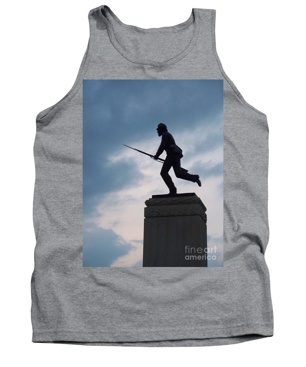 Minnesota Tank Top featuring the photograph Gettysburg Statue by Eric Schiabor