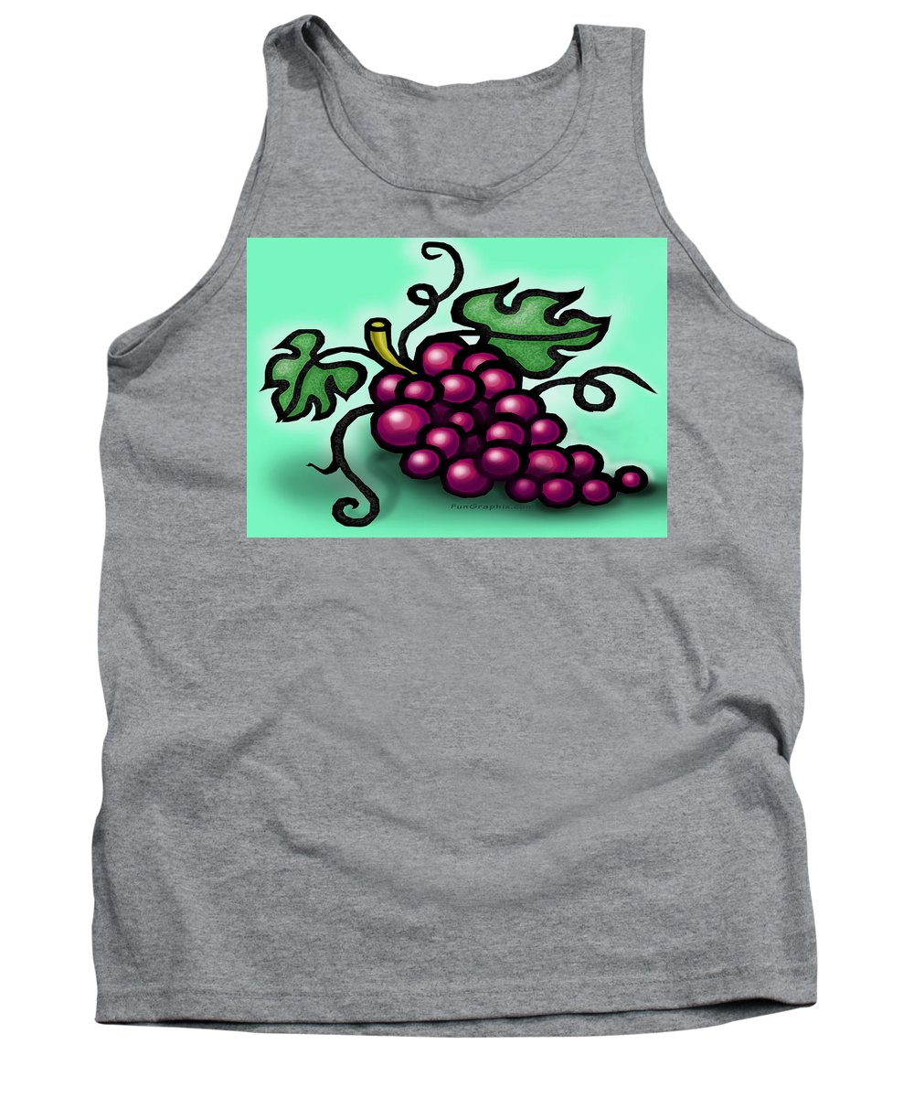 Grape Tank Top featuring the greeting card Grapes by Kevin Middleton