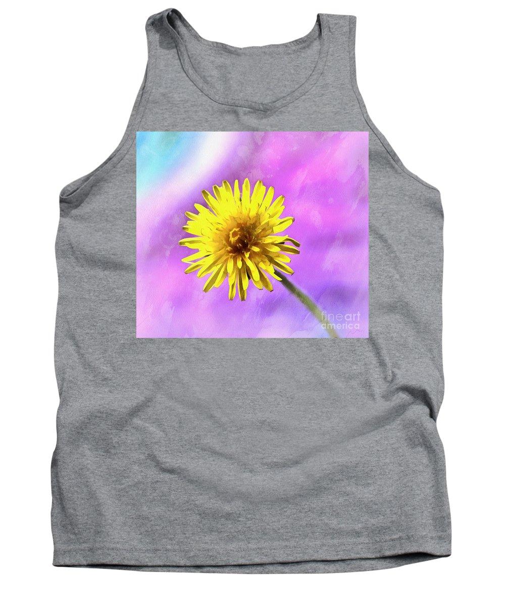 Dandelion Tank Top featuring the photograph Hello Sunshine by Krissy Katsimbras