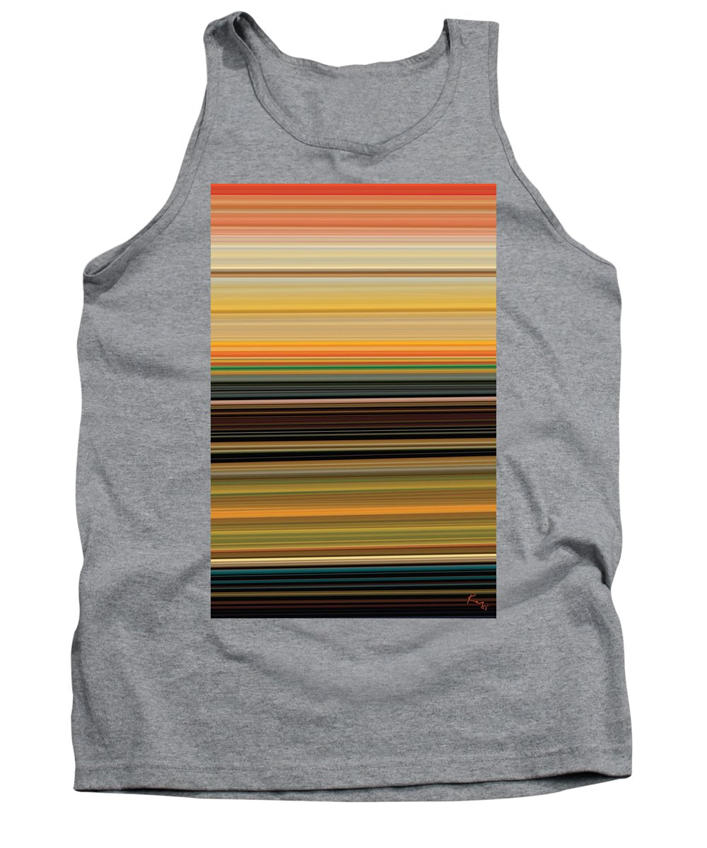 Abstract Tank Top featuring the digital art Horizont 1 by Rabi Khan