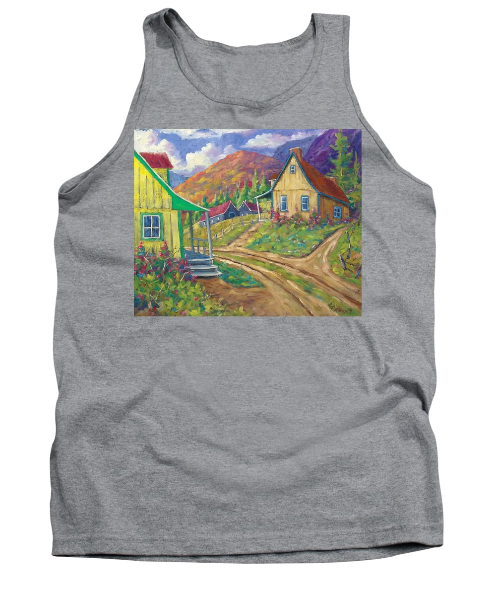 Art Tank Top featuring the painting House Of Louis by Richard T Pranke