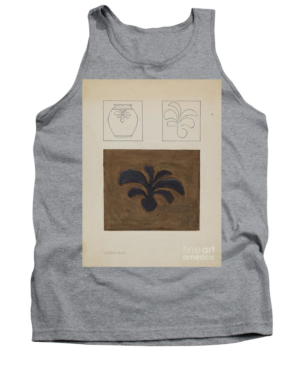 Tank Top featuring the drawing Jar by Jessica Price