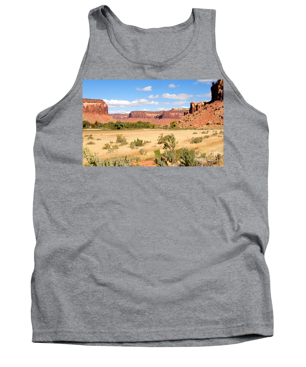 Canyon Lands Tank Top featuring the photograph Land Of Canyons by David Lee Thompson