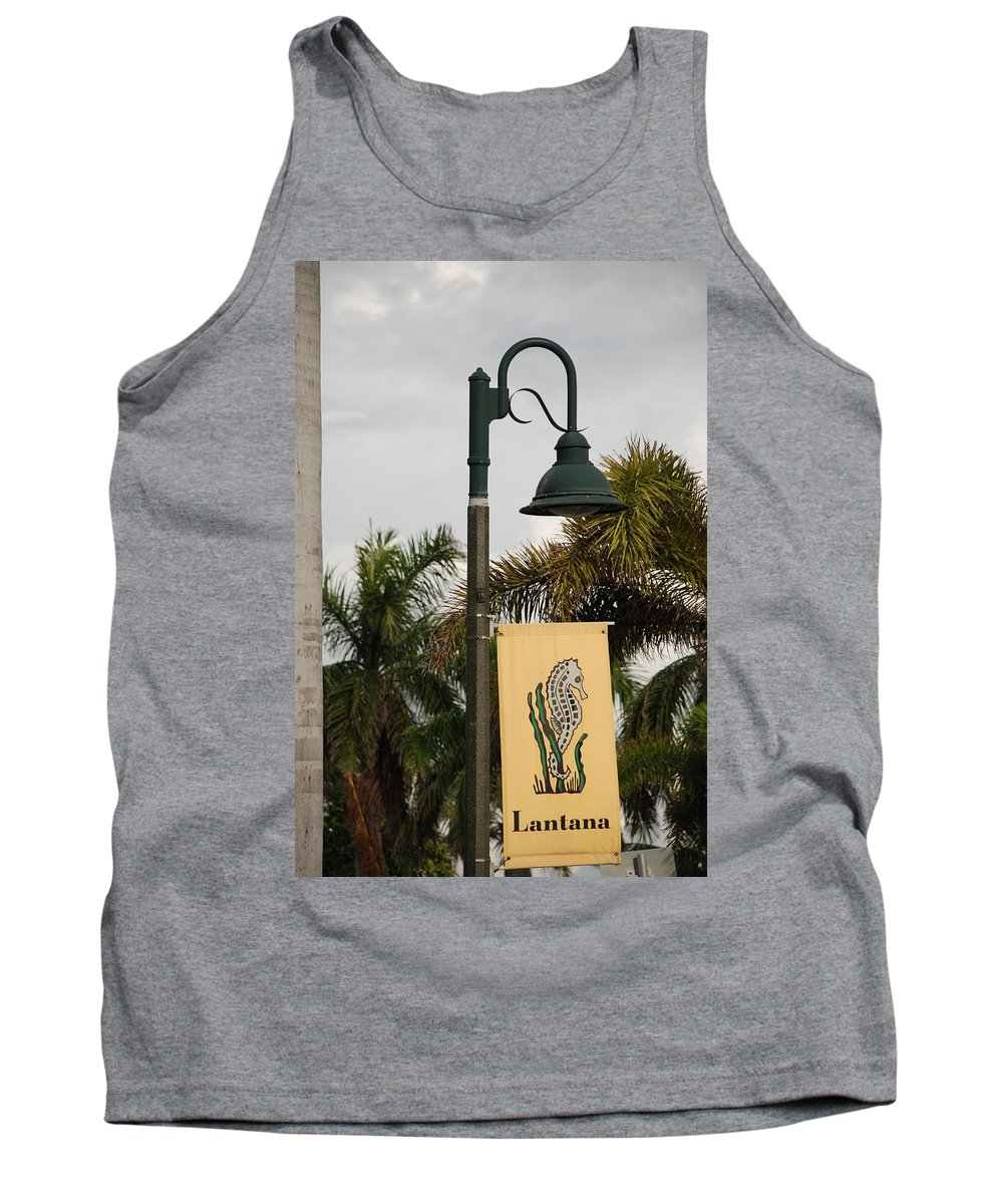 Sea Horse Tank Top featuring the photograph Lantana Lamp Post by Rob Hans
