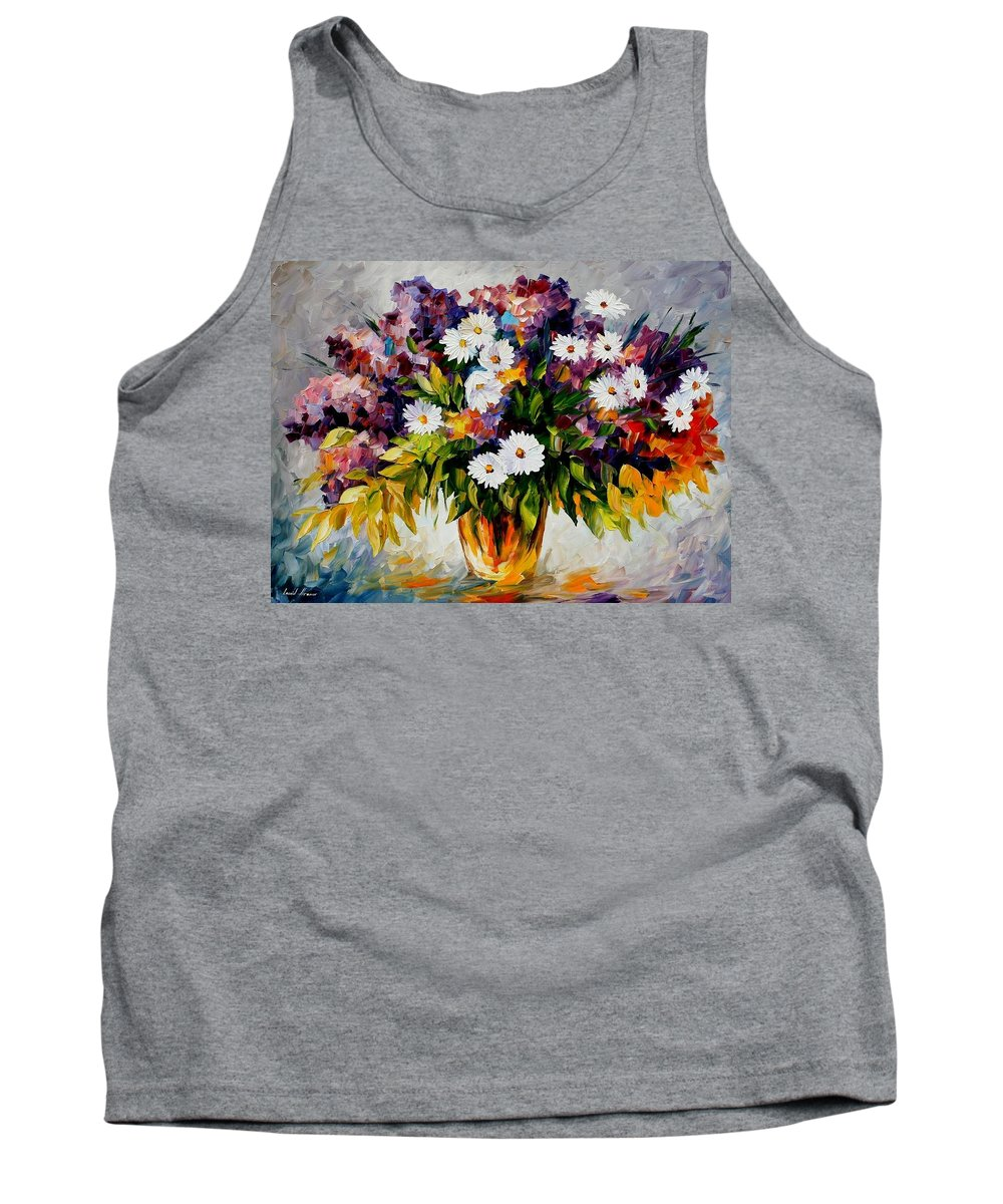 Afremov Tank Top featuring the painting Lilac And Camomiles by Leonid Afremov